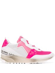Leather Crown Aero Sneakers Pink