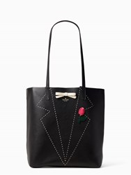 Kate Spade On Purpose Embroidered Leather Tote Black