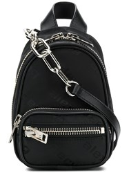 Alexander Wang Mini Zipped Backpack Black