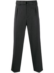 Valentino Belted Tailored Trousers Grey