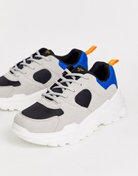 Creative Recreation Chunky Trainer In Multi Grey