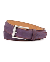 Robert Graham Laurel Leather Belt Purple