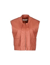 Cacharel Leather Outerwear Salmon Pink
