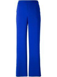 P.A.R.O.S.H. Wide Leg Trousers Blue