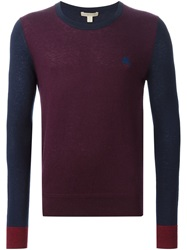 Burberry Brit Two Tone Crew Neck Sweater Red