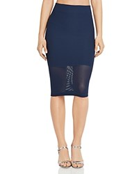 Bcbgeneration Illusion Hem Pencil Skirt Dark Navy