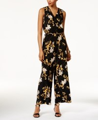Thalia Sodi Printed Chain Belt Jumpsuit Only At Macy's Deep Black