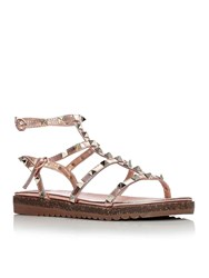 Moda In Pelle Naina Low Smart Sandals Rose Gold