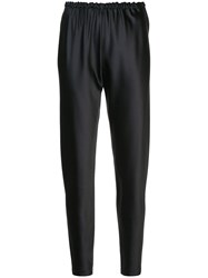 Peter Cohen Drawstring Tapered Trousers Black