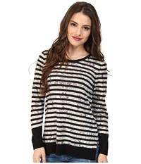 Nic Zoe Petite Enchanting Stripes Top Tissue Tee Neutral Multi Women's T Shirt