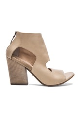 Marsell Marsell Cut Out Leather Booties In Neutrals