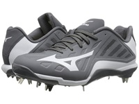 Mizuno Heist Iq Low Grey White Men's Cleated Shoes Gray