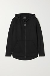 Akris Flava Hooded Stretch Jersey Track Jacket Black