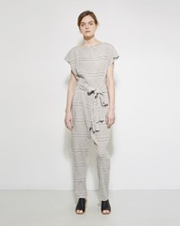 Rachel Comey Tampico Jumpsuit Faded Stripe Natural