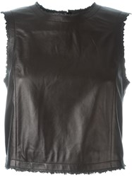 Drome Leather Tank Top Black