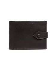 Maison Martin Margiela Leather Fold Card Wallet Silver Charcoal