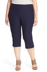 Plus Size Women's Eileen Fisher Stretch Jersey Slim Capri Pants Midnight