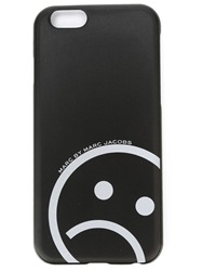 Marc By Marc Jacobs 'Reflective Unsmiley Face' Iphone 6 Cover Black