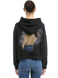 Re Done The Crawford Hooded Cotton Sweatshirt Black