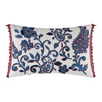 William Yeoward Floretta Paisley Cushion 60X40cm Rouge