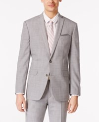 Bar Iii Men's Light Grey Slim Fit Jacket Only At Macy's