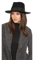 Hat Attack High Crown Felt Fedora Black