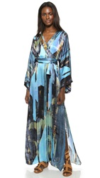 House Of Harlow Poppy Wanderlust Wrap Maxi Dres Multi