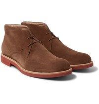 Tod's Suede Chukka Boots Brown
