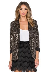 Sam Edelman Sequin Blazer Metallic Gold