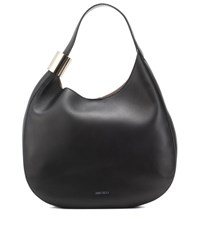 Jimmy Choo Stevie Leather Shoulder Bag Black