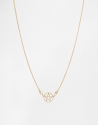 Asos Star Pendant Necklace Gold
