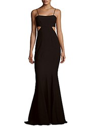 Zac Posen Fit And Flare Cutout Gown Black