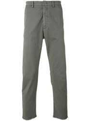 Pence Regular Trousers Men Cotton Spandex Elastane 48 Grey