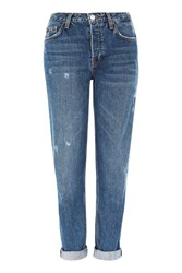 Topshop Moto Mid Rise Blue Hayden Jeans Mid Stone