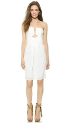 Zimmermann Silk Diamond Tuck Dress White