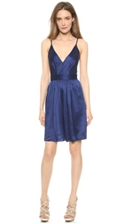 One By Contrarian Babs Bibb Mini Dress Navy