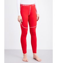Perfect Moment Thermal Stretch Woven Ski Leggings Red