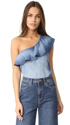 Bella Dahl One Shoulder Top Cayman Wash