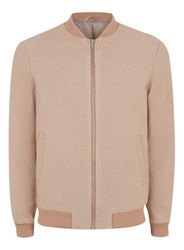 Topman Pink Boucle Textured Wool Rich Formal Bomber Jacket
