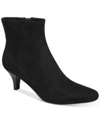 Impo Neil Pointed Toe Booties Women's Shoes Black Suede