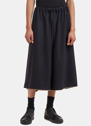 Marvielab Oversized Wide Double Layered Shorts Navy