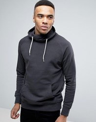 New Look Funnel Neck Sweatshirt In Dark Grey Dk Grey