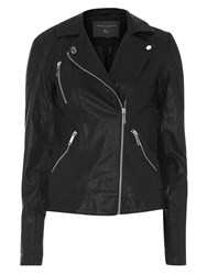 Dorothy Perkins Tall Faux Leather Jacket Black