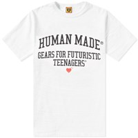 Human Made Gears Logo Tee White