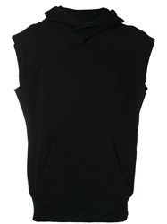 Julius Sleeveless Hoodie Men Cotton I Black