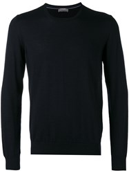Barba Sweater Men Silk Cashmere 54 Blue
