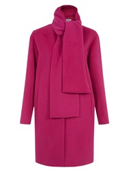 Hobbs Aerona Coat Bright Pink
