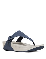 Fitflop The Skinny Canvas Toe Thong Sandals Midnight