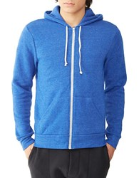 Alternative Apparel Zip Up Hoodie Eco True Pacific Blue