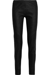 Gareth Pugh Jersey Paneled Suede Leggings Black